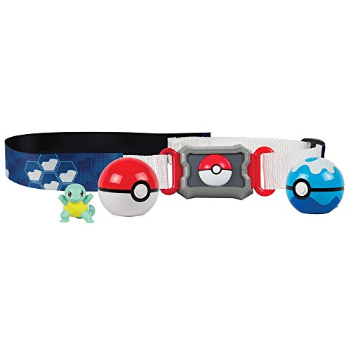 Pokemon Clip N Carry Belt Water Type Role Play Set with Squirtle Action Figure
