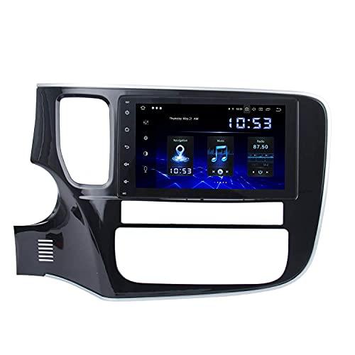 Lettore multimediale per auto 8'Android 10.0 Lettore autoradio Carplary per Mitsubishi Outlander 2014 2015 2016 2017 touch screen per autoradio 1 Din No DVD