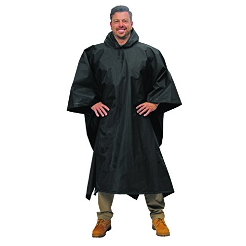 Galeton 12714-BK Repel Rainwear .22 mm Eva Lightweight Poncho, One Size, Black