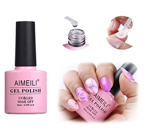AIMEILI UV LED Gellack ablösbarer Gel Nagellack Blossom Gel Polish - Clear Blooming 10ml