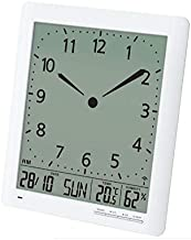"""Britta Products Franklin CL-1 Large Format 10"""" Atomic Digital-Analog Wall Clock with Day/Date, Temperature and Humidity"""