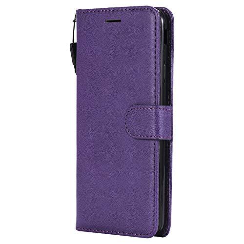Hülle für Galaxy J7 Prime 2016 Hülle Handyhülle [Standfunktion] [Kartenfach] Tasche Flip Case Cover Etui Schutzhülle lederhülle klapphülle für Samsung Galaxy J7 Prime - DEKT050430 Violett