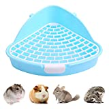 Kuoser Pet Toilet for Small Animals with Hook, Triangle Anti-Spray Little Tray Corner Potty Training for Hamster Chinchilla Guinea Pig Bunny Ferret, Cage Litter Box