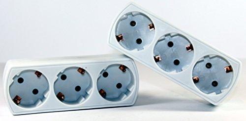 Bloc multiprise 3 prises multiprise Adaptateur 3 prises – K & B Distribution de plus multi Fiche adaptatrice Contact 550 (Lot de 2)