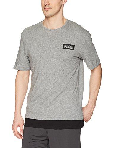 PUMA Herren T-Shirt Rebel Tee - grau - X-Groß