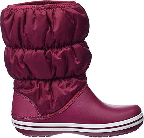 Crocs Damen Winter Puff Boots Schneestiefel, Rot (Pomegranate/White), 37/38 EU