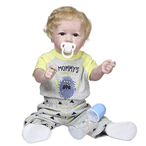 Goolsky Muñeca bebé Reborn de silicona para todo el cuerpo de 500 mm, juguete de baño impermeable para niños