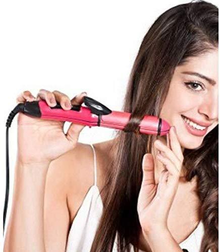 Bankcroft Export Nova Hair Straightener 2 in 1 Hair Straightener and Curler (Pink)