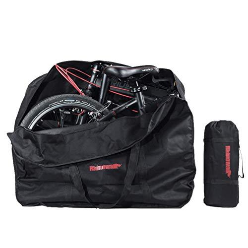 BESPORTBLE 20 inch vouwfietstas Fietstas Draagtas Draagbaar Voertuig Pack voor Air Travel Camping Outdoor (zwart)