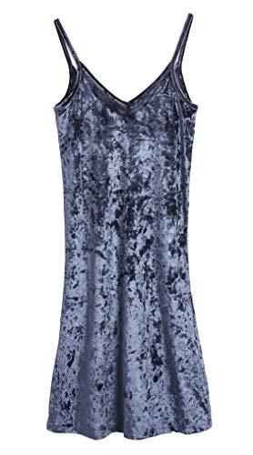 CityComfort Nachthemden für Damen Elegante Dessous Negligee Nachthemden | Nachtwäsche mit V-Ausschnitt, Holzkohle, 40 (Herstellergröße: 12)
