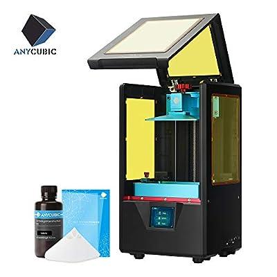 ANYCUBIC Photon S UV Photocuring 3D Printer, Ultra Precision LCD Masking Technology 2K Screen 405nm Matrix UV Light Z-axis Dual Linear Rail Printing (White)