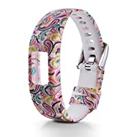 Garmin vivofit 4時計バンド ベルト 腕時計ベルト バンド シリコン製 柔らかい 防水ベルト 替えベルト 高級感 腕時計交換ベルト 腕時計バンド 防水時計替えベルト (210mm,マルチカラー)