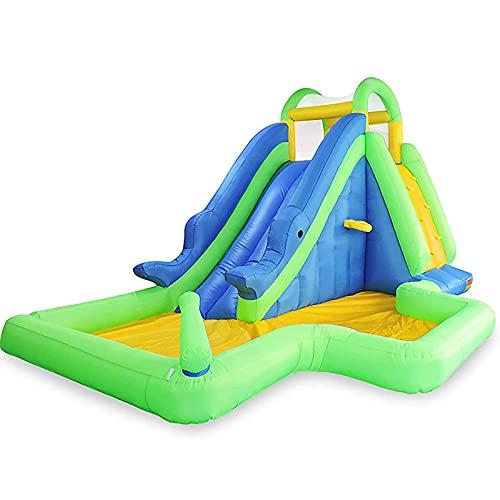FYHpet Casa de Rebote Inflable, Castillo de los niños Que Salta Bouncer con soplador de Agua de Trabajo Pesado Diapositiva de Agua al Aire Libre Play Play Play Play Sets, 6.5x4.5x3m