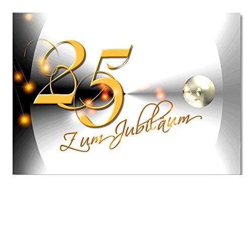 DigitalOase Jubiläumskarte 25. Jubiläum A5 Glückwunschkarte Grußkarte Klappkarte Umschlag #YANG