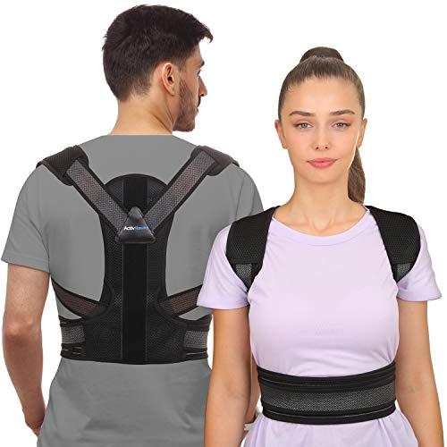 ActivHawks - Correttore di postura schiena per uomo e donna, cintura dorsale regolabile e lavabile, ideale per alleviare il mal di schiena, postura correttore schiena e spalle