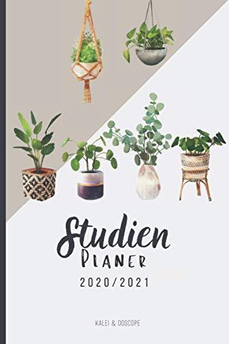 Studienplaner 2020/2021 Boho Hauspflanzen: Semesterkalender, Studentenkalender und Studienplaner 2020 - 2021 | Timer, Terminplaner und Kalender von Oktober 2020 bis Oktober 2021