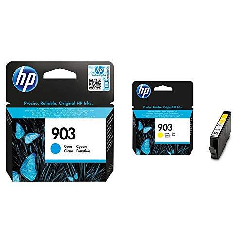 HP T6L87AE - Cartucho de Tinta + 903 T6L95AE, Amarillo, Cartucho de Tinta Original, Compatible con impresoras de inyección de Tinta OfficeJet 6950, 6951, OfficeJet Pro 6960, 6970