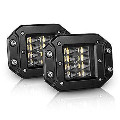 HIMA4X4 LED Light Pods 4 Inch 4000LM Super Bright Flush Mount Driving Light bars 2PCS Off Road Fog Lights Work Light For Truck Jeep Boat ATV UTV SUV