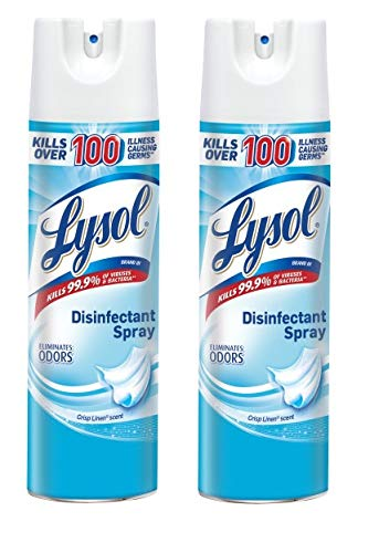 Lysol Disinfectant Spray, Crisp Linen, 19 oz (Pack of 2)