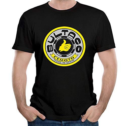WEIQIQQ Hombre Bultaco Logo Gift Short Sleeved Camiseta/T-Shirt