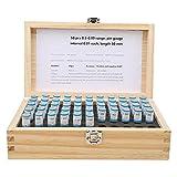 Medidor de clavija métrica, juego de calibre de enchufe, 50 piezas 0,5-0,99 mm juego de calibre de clavija de enchufe 0,001 mm herramienta de precisión de acero con cojinete de tolerancia