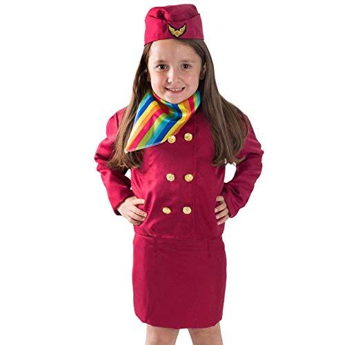 Vestido De Princesa para Nias, Azafata, Juego De Roles, Uniforme De Piloto para Nios, Falda De Asistente De Vuelo, Disfraces De Cosplay, Ropa De Carnaval De Halloween