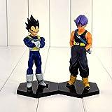 Yubingqin 2 PCS 15 cm Anime Dragon Ball Z Vegeta Troncos Figura Juguete Padre e Hijo DBZ Modelo Muñeca para Niños Decoración Familia Niños Juguetes