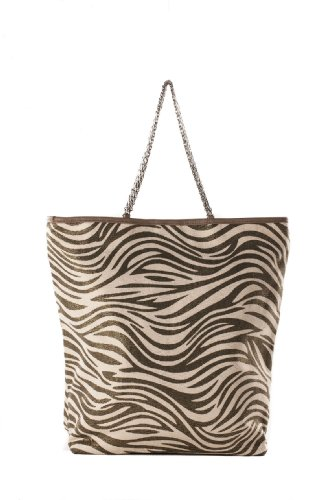 Borsa in canvas animalier Anna Cecere AC3266