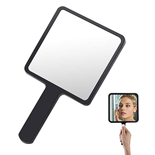 cococity Espejo de Mano Maquillaje de Peluquería Profesional Salón, Espejo Compacto Portátil para barberos, peluqueros y Viaje