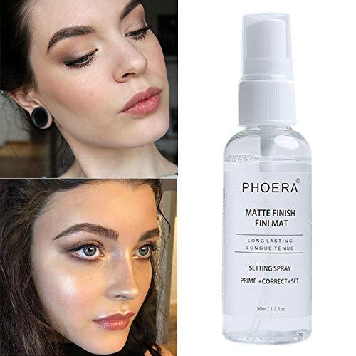 PHOERA Matt anhaltende transparente Make-up Basic Spray 1pc Make-up Einstellung Spray Feuchtigkeitsspendende lang anhaltende natürliche Foundation Setting Fixer Make-up Spray 50ml