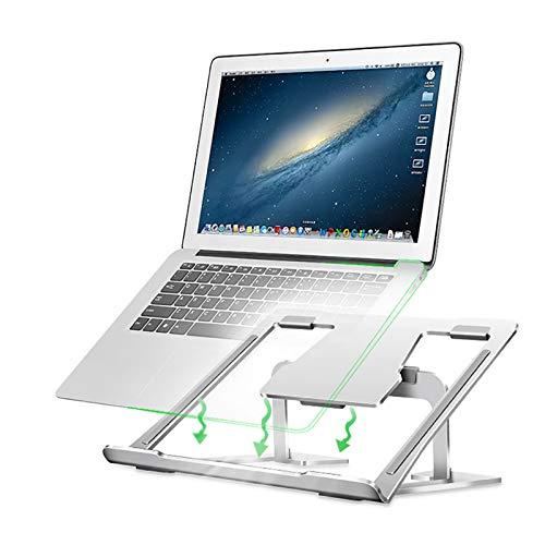 Ajustable Soporte Laptop,Soporte Para Portátil,Aluminio Ventilado Soporte Para Laptop,6 Altura,10-17tableta Portátil De Pulgadas-Plata 9x10x2inch