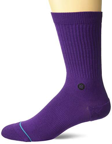 Stance Icon Socken Calcetines para hombre, morado, large