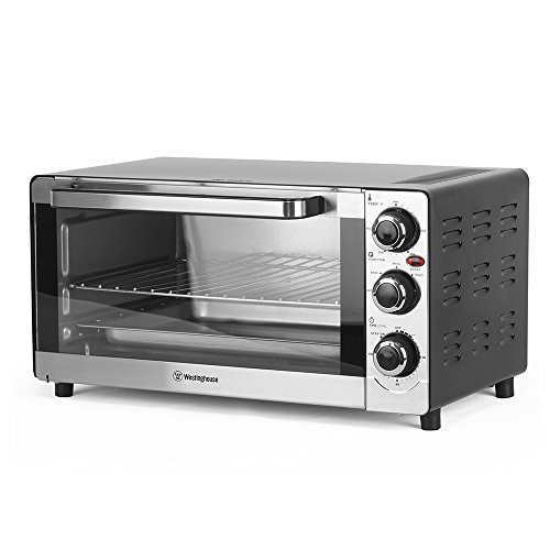 Westinghouse 6 Slice Temperature Control, Cool Touch Handle, 3 Adjustable knobs, 4 Stand Base, Stainless Steel (Toaster Oven)