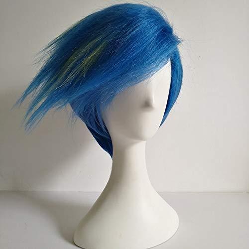 PROMARE Burning Rescue Galo Thymos Cosplay peluca corta recta azul resistente al calor pelo sintético pelucas de anime (sin estilo) + gorro de peluca