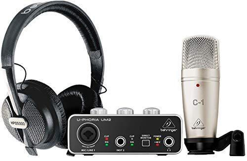 BHRINGER U-PHORIA Estudio BUNDLE Interfaz de audio USB UM2 + Micrófono C1 + Auriculares HPS5000