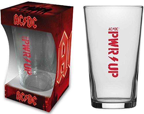 Vaso de cerveza AC/DC PWR-Up, vaso de cerveza largo, tamaño XL