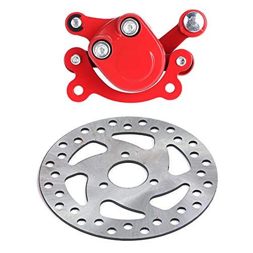 Scheibenrotor Bremssattel, 120 mm Bremsscheibe Scheibenbremsen Kit Rotoren Scheibenrotor Bremssattel Für 43 47 49cc Elektro Go Kart Scooter Mini Moto