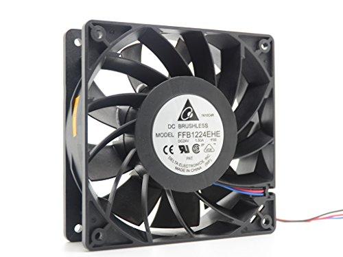 Original Delta FFB1224EHE 120MM 1238 12038 12012038MM 12cm DC 24V 1.5A 4Wire Server Cooling Fan Axial PWM