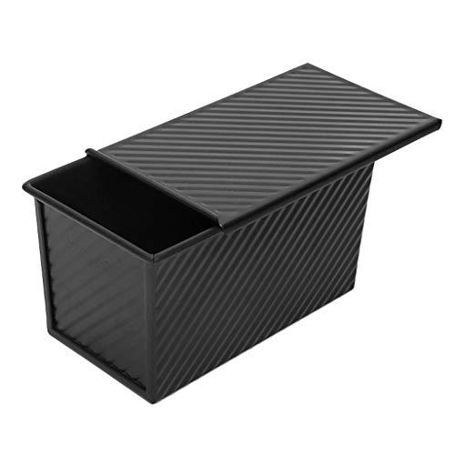 ChengLao Plateau de cuisson, acier au carbone avec couvercle anti-adhésif carré Toast Boîte à PAIN moule de cuisson Plateau de ménage Black Diamond Plaque de cuisson (Color : A)