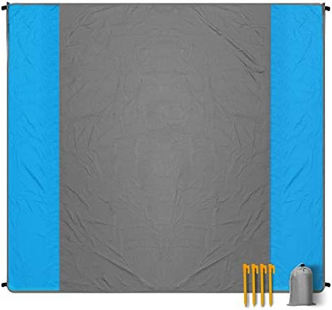Beach Blanket Sand Free Waterproof Picnic Blanket Large 78 x 82 Pocket Fast Drying Oversize product image