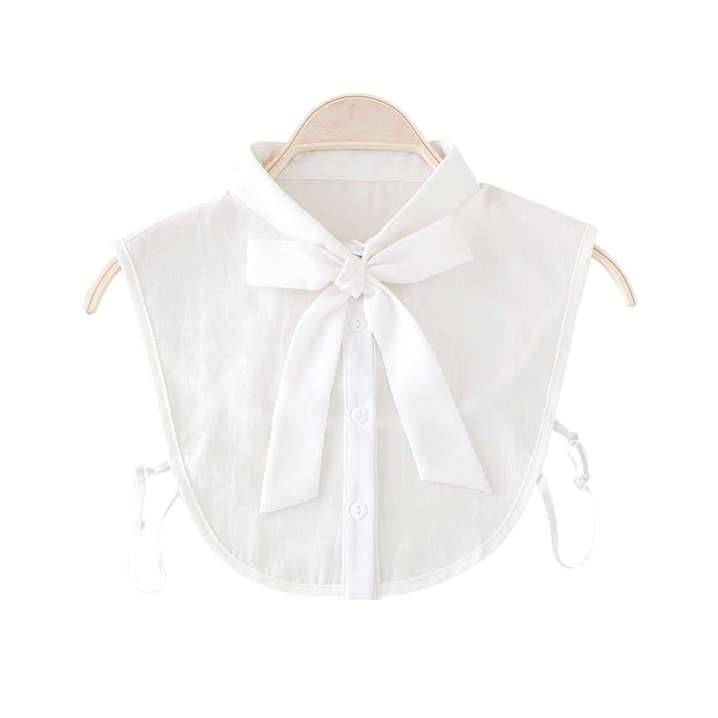 VIccoo Camisa de Cuello con Lazo para Mujer Corbata de Cuello Falso Cuello Desmontable Vintage Cuello Falso Blusa de Solapa Top Ropa de Mujer Accesorios - Blanco: Amazon.es: Hogar