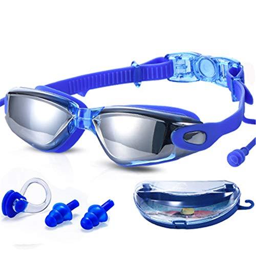 Waterdichte, anticondens- en uv-bril, gepolariseerde bijziendheidsbril, geïntegreerde siliconen oordopjes, draagbare hoofdbandgesp, comfortabel fineer, zwembaden, duiken