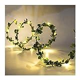 PPFC Las Luces de Navidad Garland Hojas pequeñas Hadas de luz LED de Alambre de Cobre Secuencia de la batería se Enciende for la Boda del Bosque árbol de Navidad Enciende 1111 (Color : B 5M 50LED)
