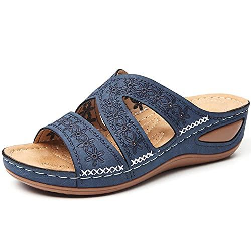 TLM Toys Sandalias de mujer de verano, sandalias para mujer, sandalias de casa para mujer, sandalias antideslizantes con plataforma de cuña