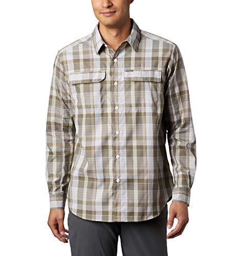 Columbia Men's Silver Ridge 2.0 Plaid Long Sleeve Shirt, Uv Sun Protection, Tusk Multi Plaid, LT