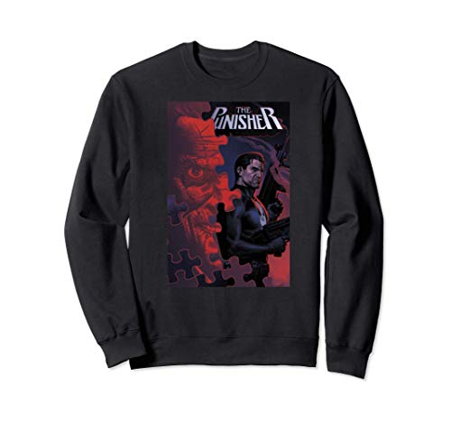 Marvel The Punisher Jigsaw In Bagalia Comic Book Cover Sudadera