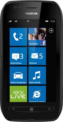 Nokia Lumia 710 Smartphone (9,4 cm (3,7 Zoll) Touchscreen, 5 Megapixel Kamera, Windows Phone Mango OS) schwarz