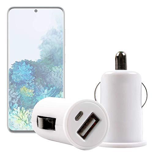 DURAGADGET Cargador Mechero del Coche con Puerto USB Compatible con Smartphone Samsung Galaxy S20 5G, Samsung Galaxy S20 Ultra 5G, Samsung Galaxy S20+ 5G