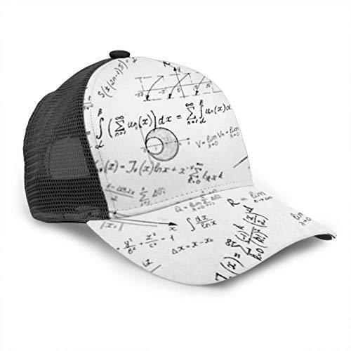 LINPM Baseball Cap Männer Frauen, Advanced Calculus auf Whiteboard verstellbare Trucker Mesh Sommer belüftete Baseball Sun Cap Hut Papa Hut