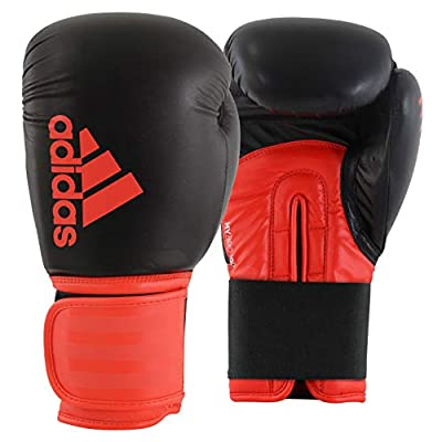adidas Boxing Gloves - Hybrid 100 - Gloves for Men and Women - Boxing, Kickboxing, Training, Cardio (Black/Red, 14 oz)